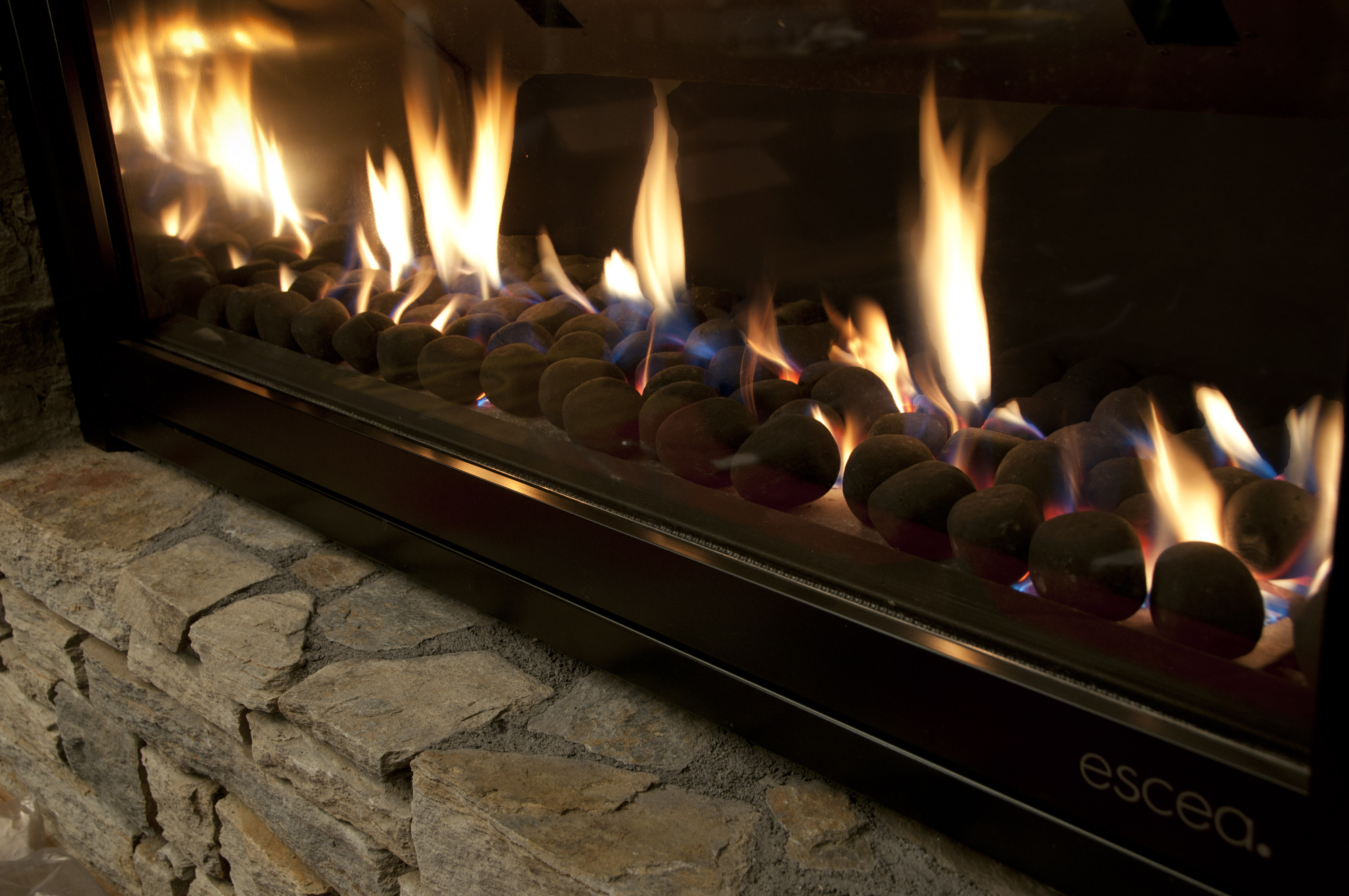 gas powered fireplaces